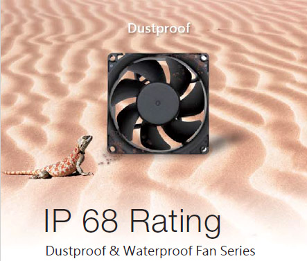 Have you ever seen a fan resistant to dust and water