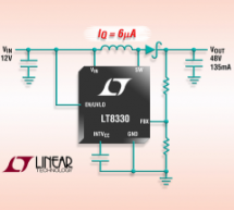 LT8330 – Low IQ Boost/SEPIC/Inverting Converter with 1A, 60V Switch