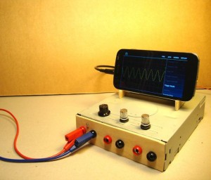 Use your Smartphone as an Oscilloscope Signal Generator