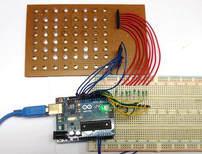Arduino-8x8-LED-Matrix-Scrolling-Display