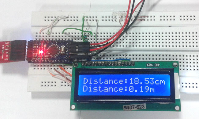 Arduino ultrasonic sensor project