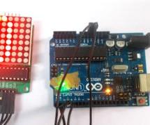 8×8 LED Matrix using Arduino