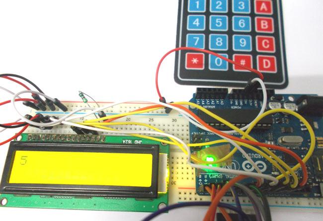 Arduino-Uno-Keypad-Interfac