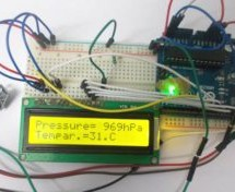 Pressure Sensor BMP180 Interfacing with Arduino Uno