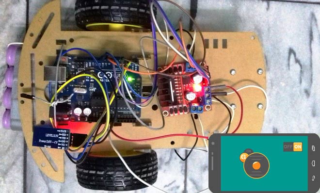 Mobile Phone Controlled Robot Car