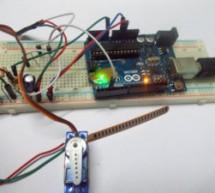 Servo Motor Control by Flex Sensor