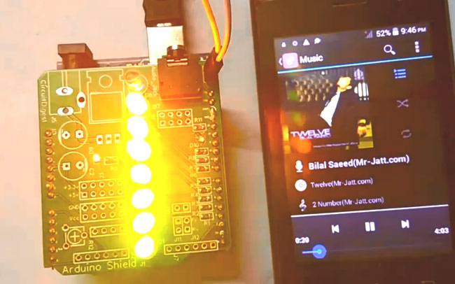DIY LED VU Meter as Arduino Shield