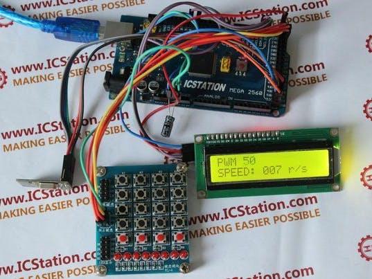 wireless motor speed control system