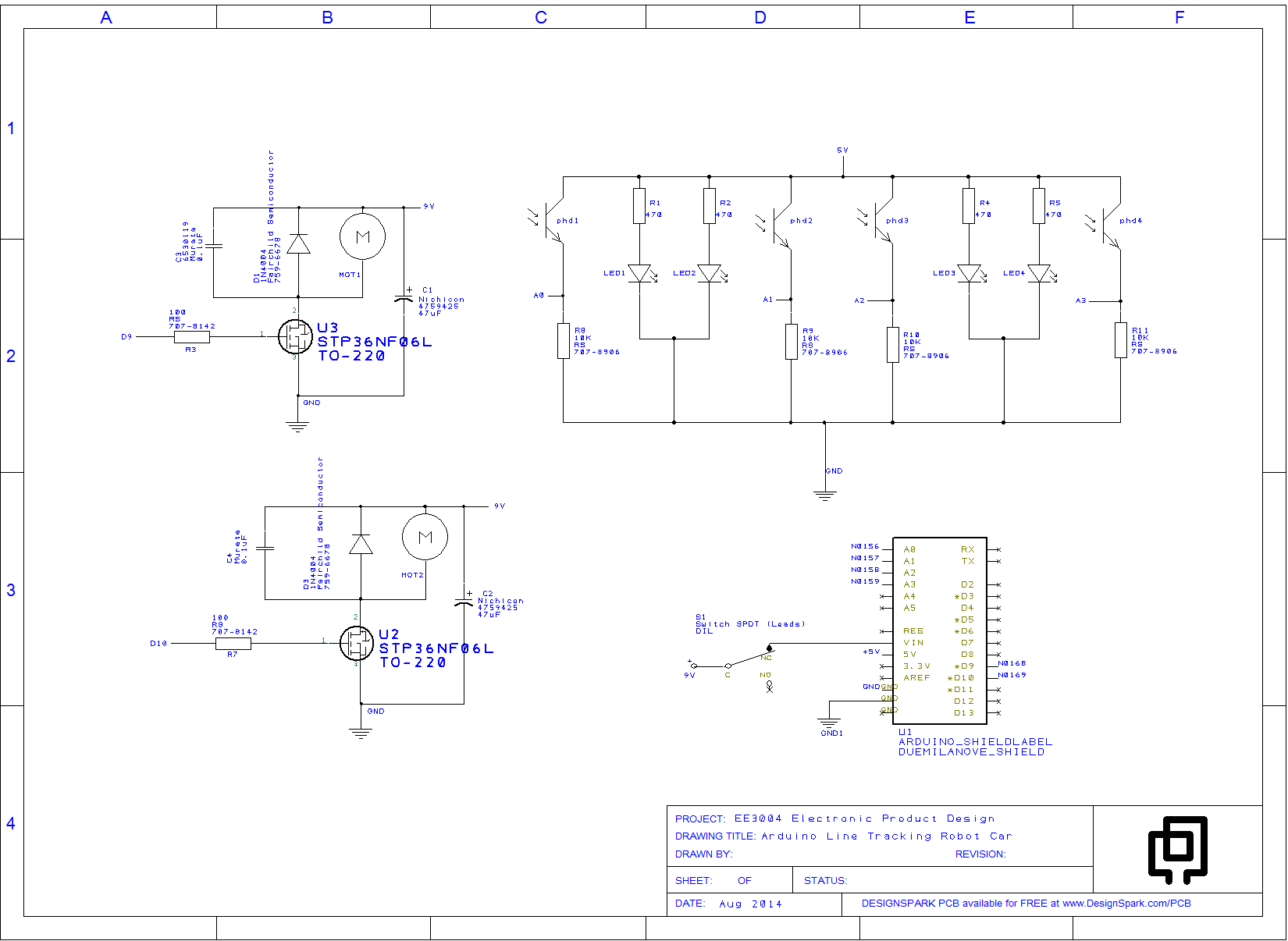 schematic- Arduino Line Tracking Robot Car