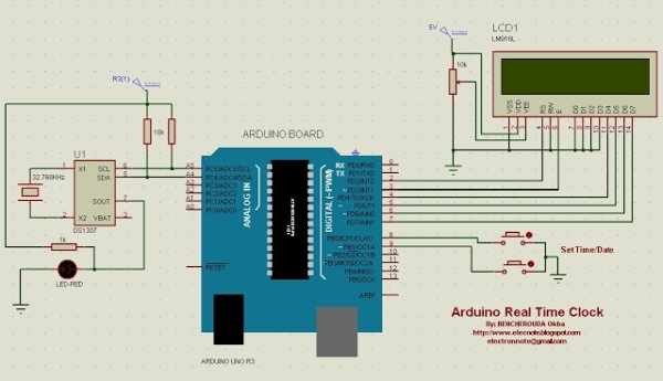 Arduino ds1307 real time clock