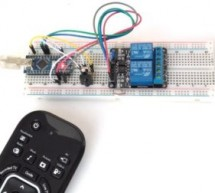 Controlling relay switches with an infrared remote
