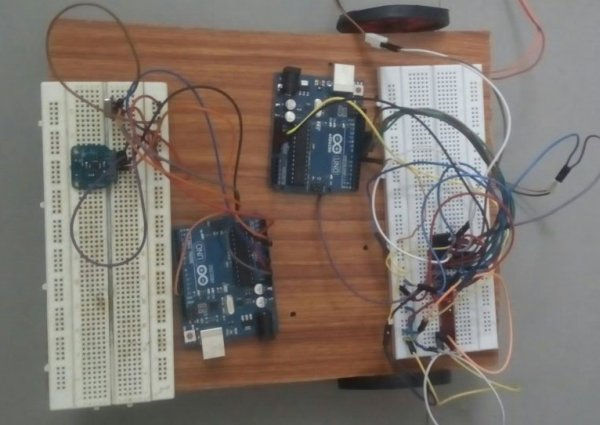 Gesture controlled car using Arduino