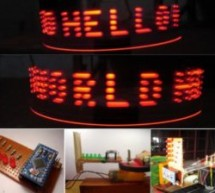 How to Make a POV Display Using LEDs and Arduino
