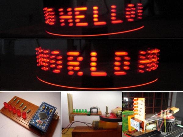 How to Make a POV Display Using LEDs and Arduino