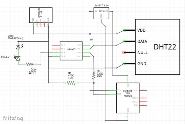IR Blaster Schematic IR Controller for Air Conditioner