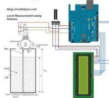 Low cost continuous pricision liquid level measurement using arduino