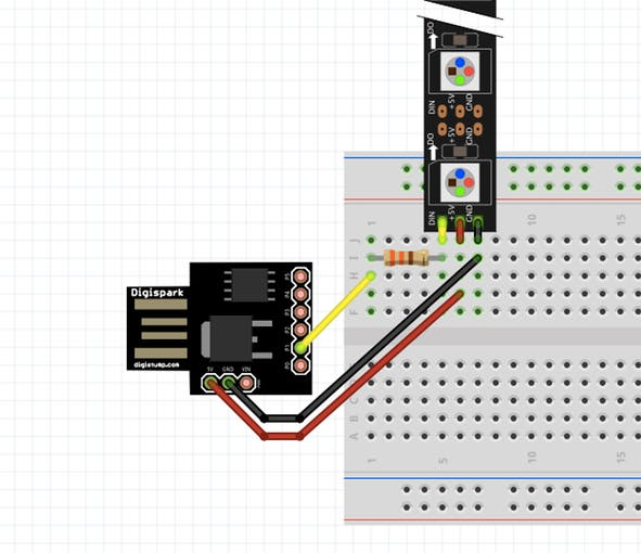 Schematic ATtiny85 for Simple Projects Arduino Basics