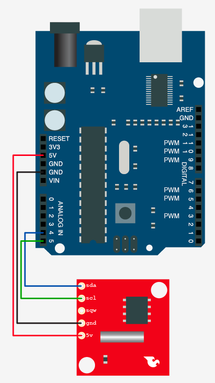 Schematic Do You Have The Time DS1307 RT Clock + Arduino