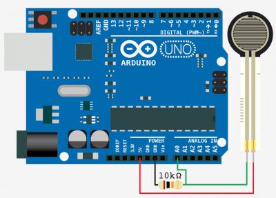 Schematic Force Sensitive Resistor + Arduino