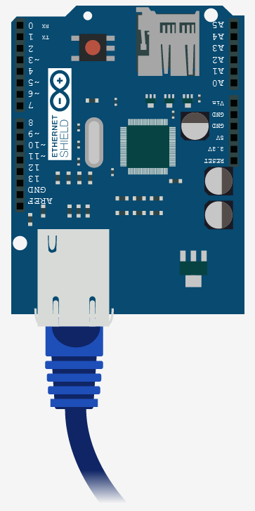Schematic Getting Data From The Web – Arduino + Ethernet