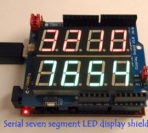 Serial seven segment LED display shield