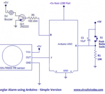 Burglar Alarm using Arduino and PIR Sensor