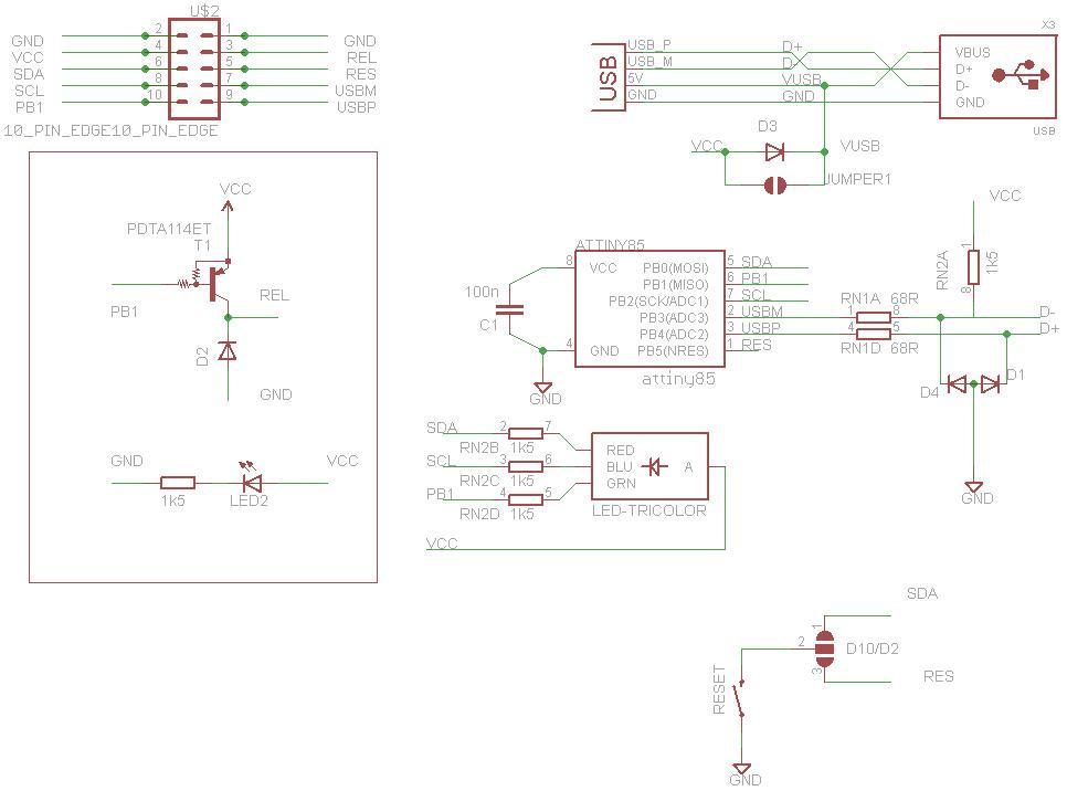 PicoDuino = Digispak + RGB LED + Button + Relay Driver