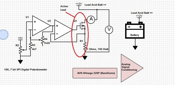 Arduino Lead Acid Battery Capacity Tester-(Updated)