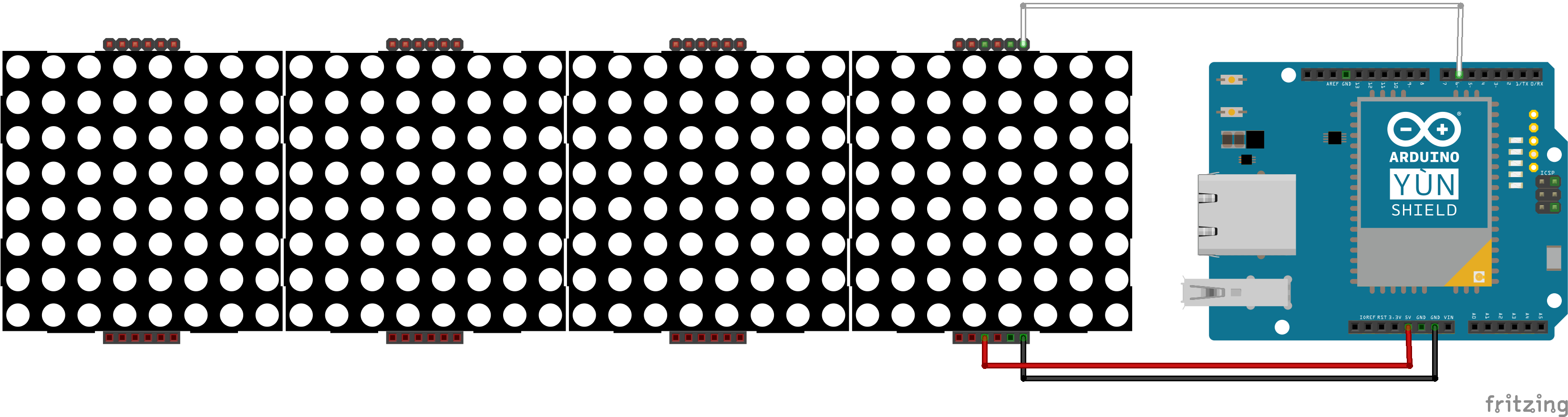 Schematic LedMatrix Tweet Visualization