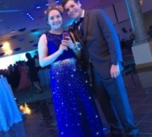 Starry Night Prom: How did I stand out at prom? In a light up dress of course!