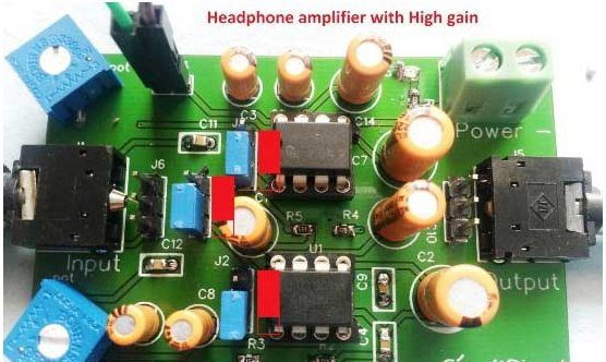 Figure 3 headphone amplifier with high gain