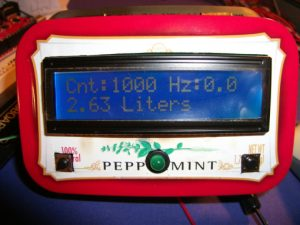 Arduino Display for Liquid Flow Sensors