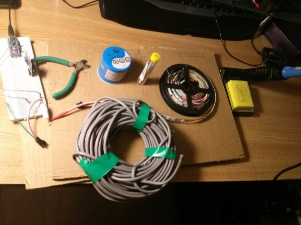 Arduino LED Wall clock using WS2811