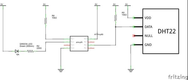 Schematic of Easily run your ATtiny at 16MHz, without an external clock, from the Arduino IDE