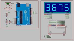 Arduino 50V digital Voltmeter using MAX7219