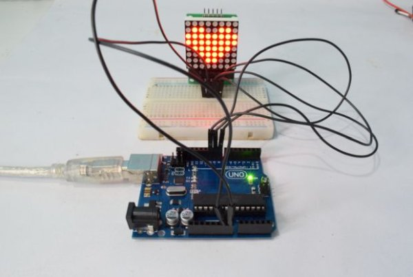 Arduino 8×8 LED Matrix using MAX7219