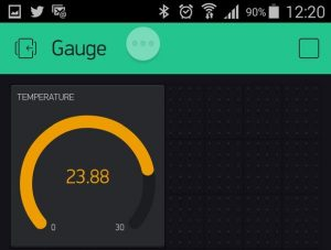 Arduino DS18B20 Thermometer on iOS or Android