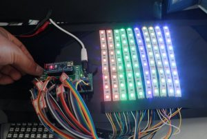 Arduino LED Scroll Bar using easyEDA