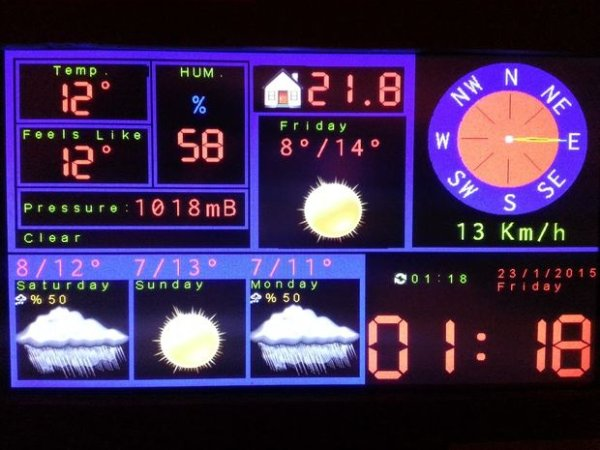 Arduino TFT Forecast Weather Station with ESP8266 -Use Arduino for