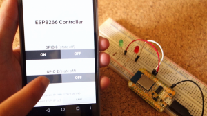 ESP8266 controlled with Android app (MIT App Inventor)