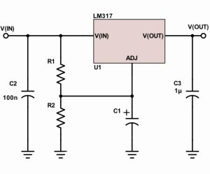 LM317 smooths but doesn't regulate