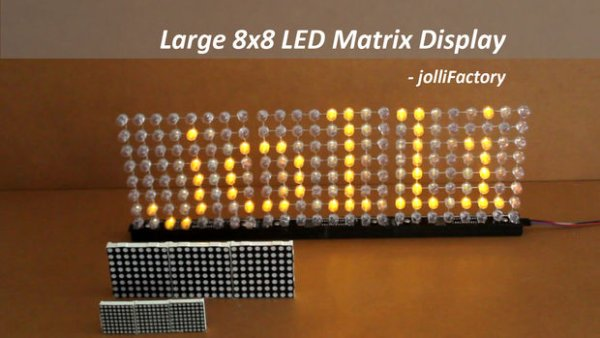 Large 8×8 LED Matrix Display