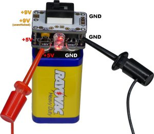 5V Regulator Cap for 9V battery