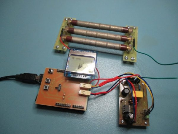 Arduino Geiger–Müller counter with LCD display