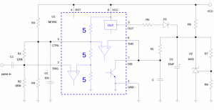 Circuit delivers constant power to a load