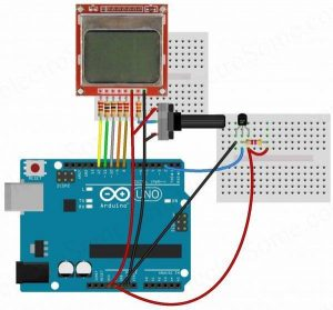 Digital Thermometer using Arduino and DS18B20 Sensor Schematic