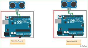 How To Measure Distance Between Two Ultrasonic Sensors Schematic