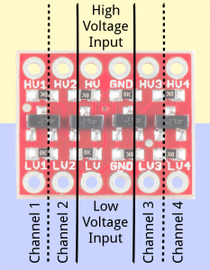 LC-04 4 Channel Logic Converter 3.3V – 5.0V