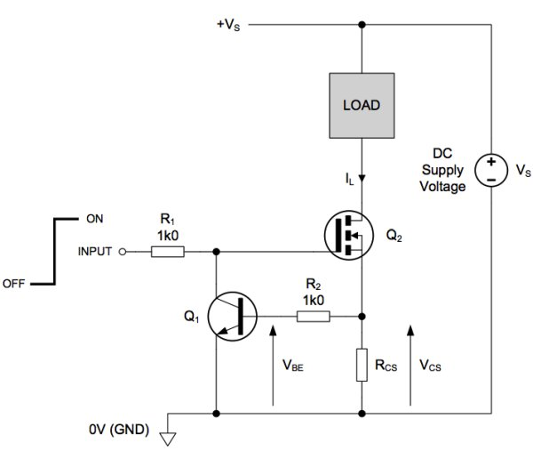 Load switch with self-resetting circuit breaker