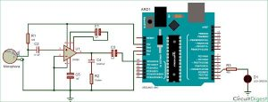 Measure Sound/Noise Level in dB with Microphone and Arduino Schematic